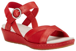 Ariat Women's Red Out & About Strap Sandals , Red, hi-res
