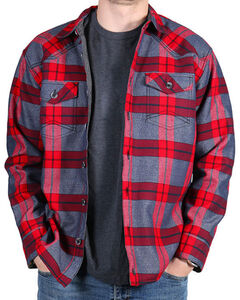 Cody James Men's Carson City Fleece Lined Flannel Shirt, , hi-res