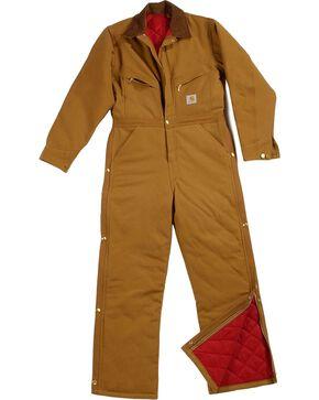 Carhartt XO1 Quilt Lined Duck Coveralls - Short, Reg Inseams, Brown, hi-res