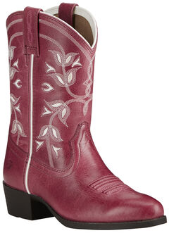 Ariat Youth Girl's Pink Desert Holly Boots - Medium Toe, , hi-res