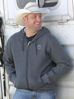Cinch Men's Heather Grey Zippered Hoodie Fleece Jacket , , hi-res