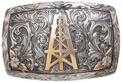 AndWest Laredo Vintage Oil Derrick Belt Buckle, , hi-res