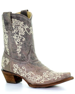 Corral Crater Embroidery Short Boots - Snip Toe, , hi-res
