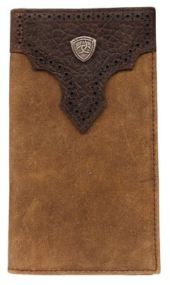 Ariat Logo Concho Overlay Rodeo Wallet, , hi-res