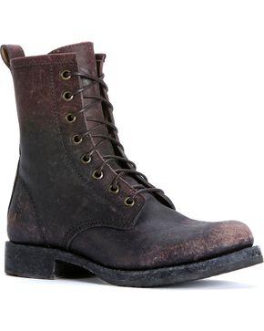 Frye Veronica Combat Boots - Round Toe, Dark Brown, hi-res