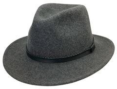 Black Creek Men's Grey Heathered Crushable Wool Hat, , hi-res