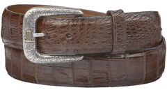 Lucchese Men's Sienna Caiman Ultra Belly Leather Belt, , hi-res
