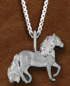 Kelly Herd Women's Sterling Silver Paso Fino Pendant Necklace, , hi-res