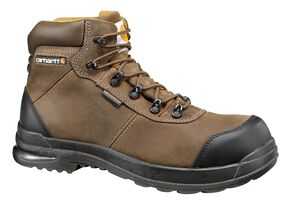 "Carhartt 6"" Stomp Light Bal Waterproof Work Boots, Chocolate, hi-res"