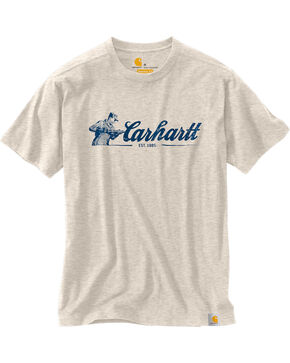 Carhartt Men's Ivory Maddock Graphic Script T-Shirt, Ivory, hi-res