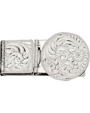 Montana Silversmiths Silver Engraved Western Money Clip, No Color, hi-res