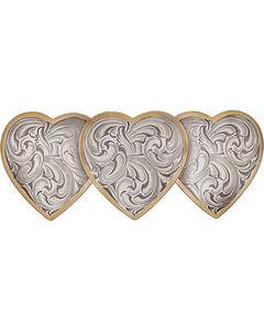 Montana Silversmiths Heirloom Gold Triple Heart Barrette, , hi-res