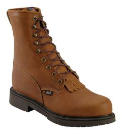 "Justin Double Comfort 8"" Lace-Up Work Boots - Steel Toe, , hi-res"