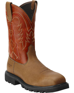 Ariat Work Wildcatter Pull-On - Composite Safety Toe, Peanut, hi-res