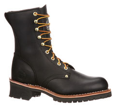 Georgia Logger Work Boots - Steel Toe, , hi-res
