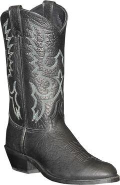 Abilene Sage Black Cowboy Boots - Round Toe, , hi-res