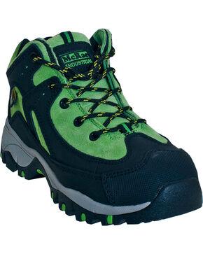 McRae Industrial Women's Green Internal Met Athletic Work Shoes - Steel Toe , Black, hi-res