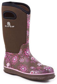 Roper Neoprene Shaft Rubber Boots - Round Toe, , hi-res