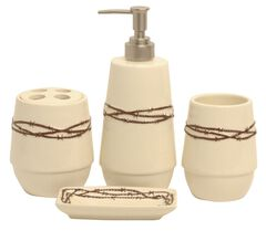 HiEnd Accents Barbed Wire Bathroom Set, , hi-res