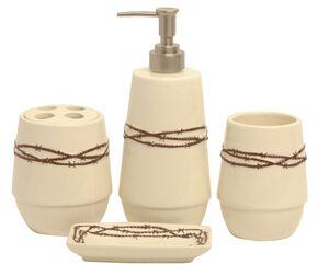 HiEnd Accents Barbed Wire Bathroom Set, Cream, hi-res