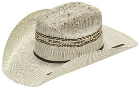 Twister Kids' Brown Bangora Straw Cowboy Hat, Brown, hi-res