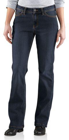 Carhartt Women's Original Fit Dark Indigo Jasper Jeans, Dark Indigo, hi-res