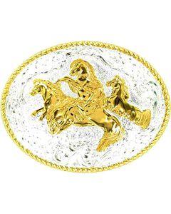 Crumrine Five Wild Horses Buckle, , hi-res