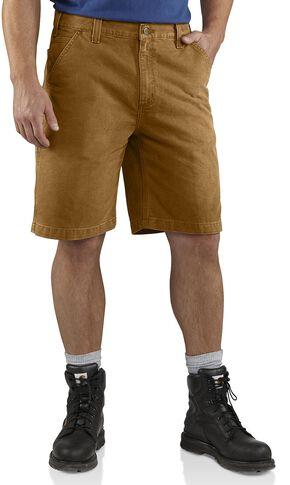 Carhartt Weathered Duck Work Shorts, Carhartt Brown, hi-res