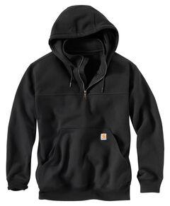 Carhartt Rain Defender Paxton Hooded Zip Mock Sweatshirt - Big & Tall, , hi-res