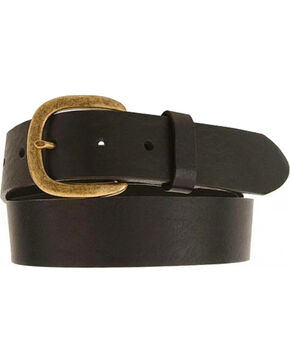 Justin Basic Leather Work Belt - Reg & Big, Black, hi-res
