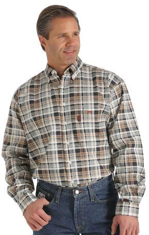 Cinch WRX Flame-Resistant Brown Plaid Shirt, Brown, hi-res