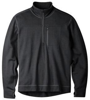 Mountain Khakis Black Rendezvous Quarter Zip Long Sleeve Shirt, Black, hi-res