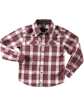 Cody James Toddler Boys' Pecos Long Sleeve Shirt, Red, hi-res