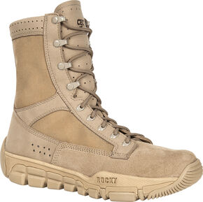 Rocky Men's C5C Commercial Military Boots, Tan, hi-res