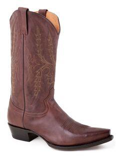 Stetson Fancy Stitched Cowboy Boots - Snip Toe, , hi-res