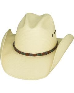 Bullhide Classic Shantung Panama Straw Cowgirl Hat, , hi-res