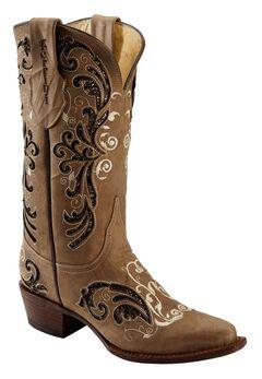 Ferrini Fancy Rockstar Inlay Cowgirl Boots - Snip Toe, , hi-res
