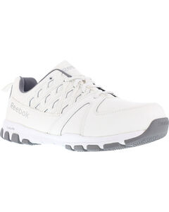 Reebok Men's Leather and MicroWeb Athletic Oxfords - Steel Toe, , hi-res