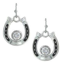 Montana Silversmiths Women's Horseshoe Treasure Earrings , , hi-res
