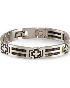 Sabona Cross Cable Magnetic Bracelet - Size L, , hi-res
