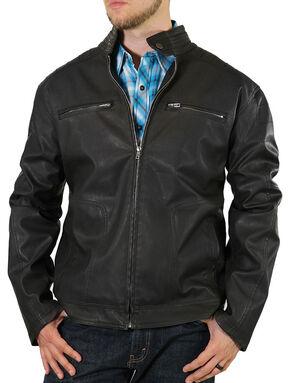 Moonshine Spirit Men's Black Crest Motorcycle Jacket, Black, hi-res