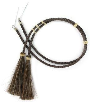 Cody James Brown Braided Leather Stampede String , Brown, hi-res