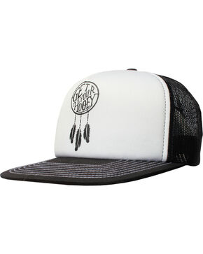 Hooey Women's Dreamcatcher Mesh Back Baseball Cap , White, hi-res
