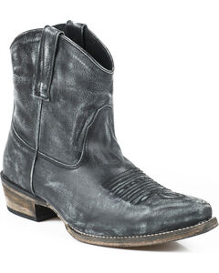 Roper Dusty Distressed Short Cowgirl Boots - Snip Toe, , hi-res