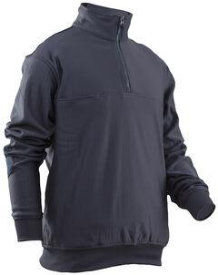 Tru-Spec Men's Grid Fleece Zip Job Shirt, , hi-res