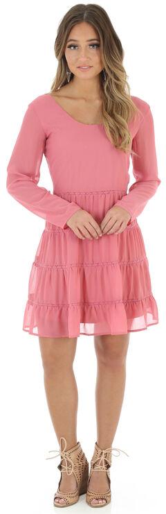 Wrangler Women's Scoop Neck Crochet Back Dress, , hi-res