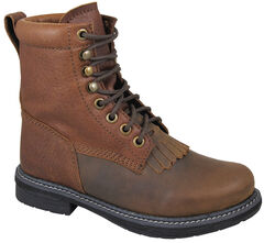 Smoky Mountain Boys' Panther Lace-Up Leather Boots - Round Toe, , hi-res