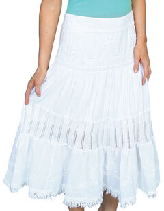 Scully Crocheted Panel Skirt, , hi-res