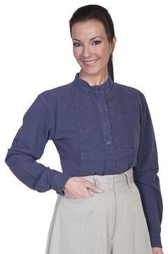 Rangewear by Scully Paisley Bib Inlay Long Sleeve Top, , hi-res