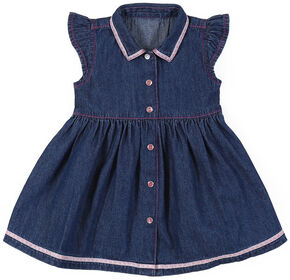 Wrangler Infant & Toddler Girls' Denim Dress, Indigo, hi-res